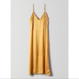 BNWT ARITZIA WILFRED MILLE SLIP DRESS CAIRO GOLD 2